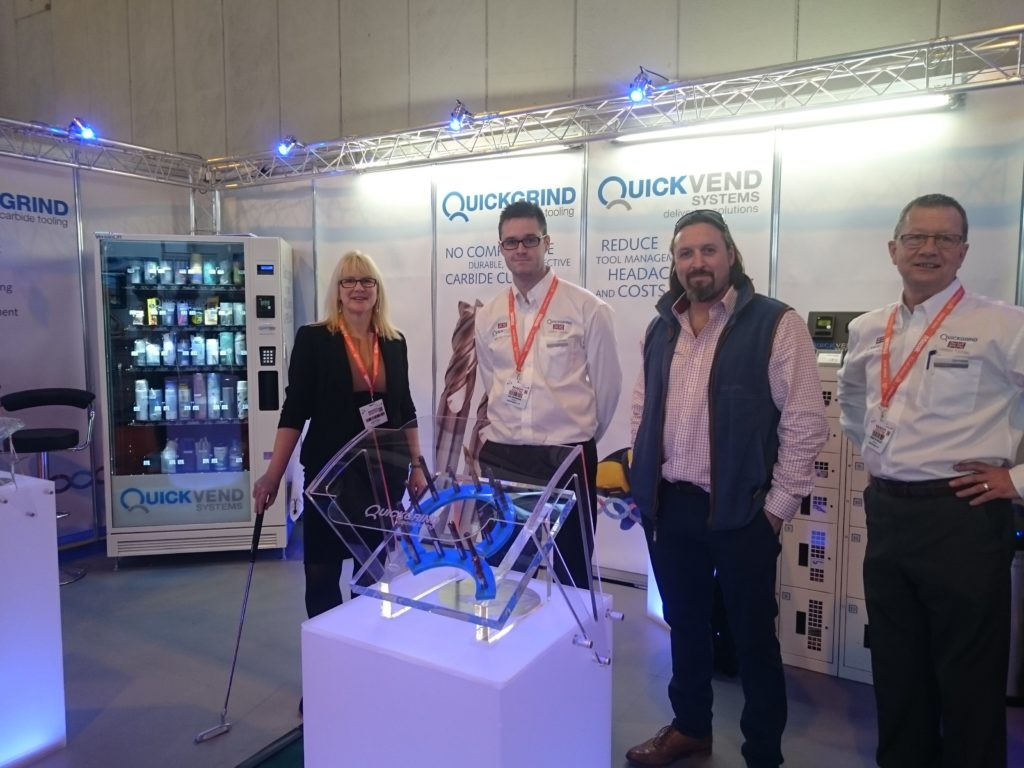 Quickgrind showcasing its solid carbide cutting tools at MACH earlier this year